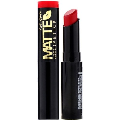 Губная помада L.A. Girl, Matte Flat Velvet Lipstick, оттенок Gossip, 3 г