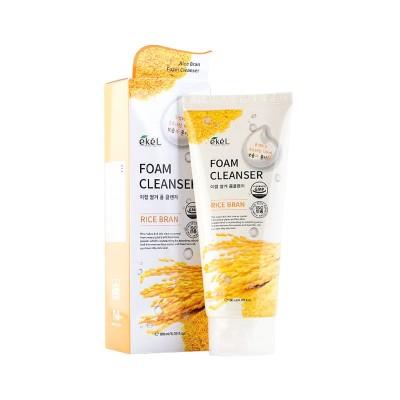 Пенка для лица Коричневый Рис EKEL Rice Bran Foam Cleanser, 180 ml