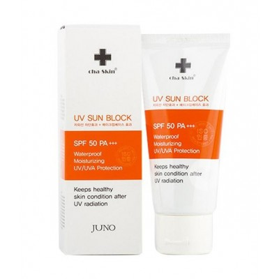 JUNO Солнцезащитный крем Cha-skin UV Sun Block SPF 50 PA+++