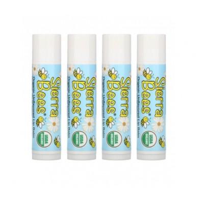 Органический бальзам для губ Sierra Bees, без вкуса