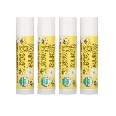 Органический бальзам для губ Sierra Bees, крем-брюле
