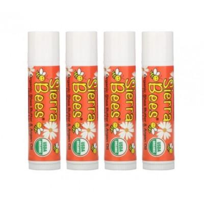 Органический бальзам для губ Sierra Bees, масло ши и аргановое масло