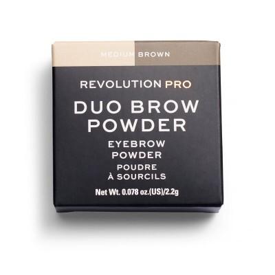 Тени для бровей Revolution Pro Duo Brow Medium Brown