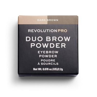 Тени для бровей Revolution Pro Duo Brow Dark Brown