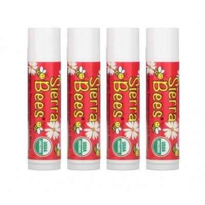 Органический бальзам для губ Sierra Bees, запах граната