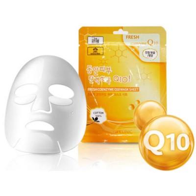 Тканевая маска для лица 3W Clinic  Fresh Coenzyme Q10 Mask Sheet