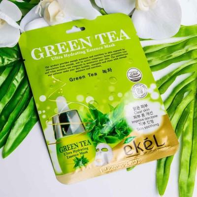Тканевая маска Green Tea Ekel Hydrating Essence mask