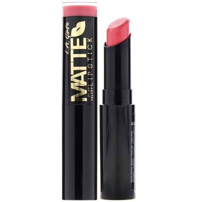 Матовая губная помада L.A. Girl, Matte Flat Velvet Lipstick, оттенок Hush, 3 г