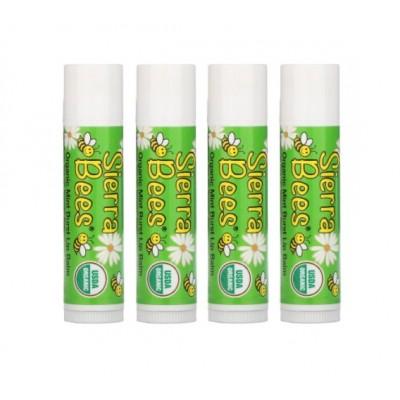 Органический бальзам для губ Sierra Bees, мятный взрыв