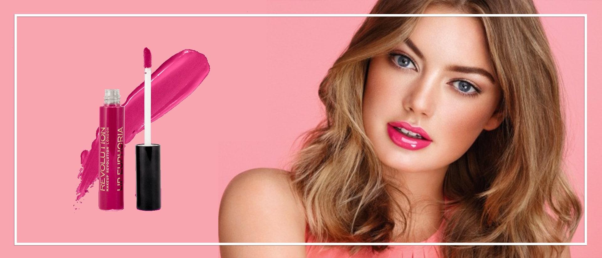 Розовый блеск для губ