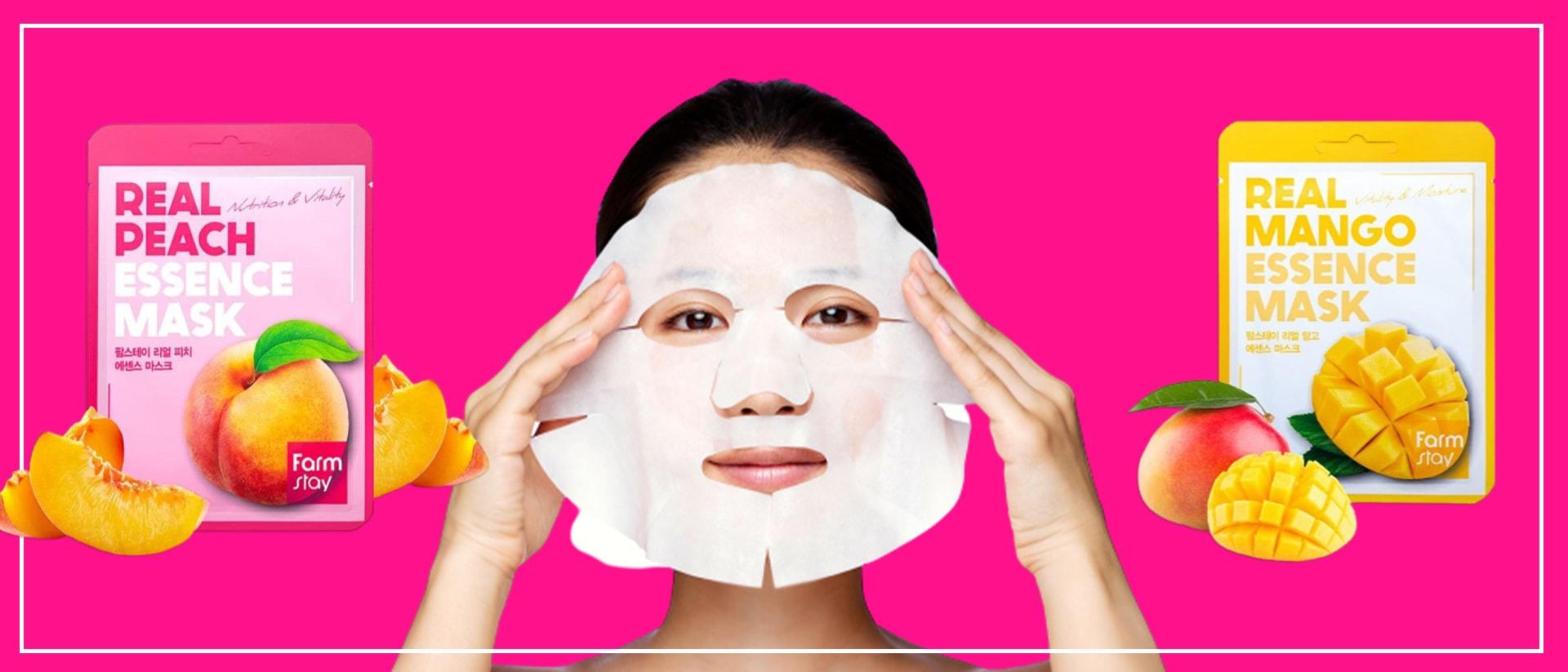 Тканевые маски для лица в Алматы